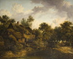 Landscape with Cottage, Poster Art Print by Charles Filiger