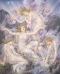 Daughters of the Mist Poster Art Print by Evelyn De Morgan
