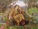 A Soul in Hell Poster Art Print by Evelyn De Morgan