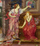 Queen Eleanor and Fair Rosamund Poster Art Print by Evelyn De Morgan