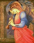 An Angel Playing a Flageolet, 1878