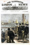 The Prince of Wales at the Royal Thames Yacht Club match, yachts rounding the club steamer, front cover from 'The Illustrated London News', pub. June 6th 1874