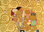 Fulfilment Poster Art Print by Gustav Klimt
