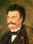 Fine Art Print of Johann Strauss the Younger, 1895 by Eduard Grutzner