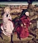 The Schotten altarpiece depicting the Flight into Egypt, 1475 Poster Art Print by Gerard David
