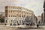New Houses at Entrance of Gresham St, 1851 Poster Art Print by English School
