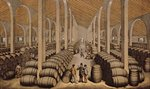 Wine Cellar at Jerez de la Frontera Poster Art Print by Anonymous