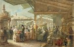 Old Covent Garden Market, 1825 Poster Art Print by Mexican School