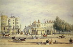 Grosvenor Gate and the New Lodge, 1851 Poster Art Print by English School