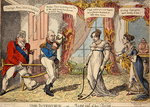 The Interview or Miss out of her Teens, 1816 Poster Art Print by James Gillray