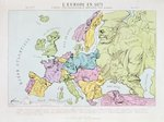 L'Europe en 1871, 1871 Poster Art Print by Trevor Neal