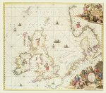 Map of the North Sea, c.1675 Poster Art Print by English School