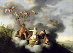 Ceres, Bacchus, Venus and Cupid Poster Art Print by Francois Boucher