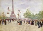 Entrance to the Exposition Universelle, 1889 Poster Art Print by Pierre-Auguste Renoir