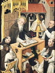Interior of a Scriptorium, School of Segovia Poster Art Print by Niklaus Manuel