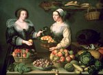 The Fruit and Vegetable Seller Poster Art Print by Claire Spencer
