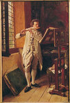 The Flute Player Poster Art Print by Italian School