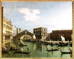The Rialto Bridge, Venice Poster Art Print by William James
