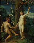 Adam and Eve Poster Art Print by Master of Marradi