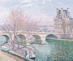 The Pont-Royal and the Pavillon de Flore, 1903 Poster Art Print by Camille Pissarro