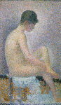 Fine Art Print of Model in Profile, 1886 by Georges Pierre Seurat