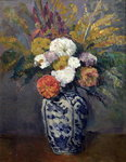 Dahlias, c.1873 Poster Art Print by Paul Cezanne