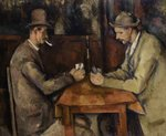 The Card Players, 1893-96 Poster Art Print by Paul Cezanne