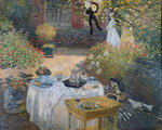 The Luncheon: Monet's garden at Argenteuil, c.1873 Poster Art Print by Nicolas Lancret