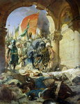Entry of the Turks of Mohammed II Poster Art Print by James Sharples