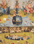 The Garden of Earthly Delights: Allegory of Luxury, detail of the central panel, c.1500 Poster Art Print by Hieronymus Bosch