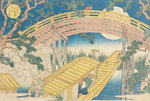 Fan Bridge by Moonlight, from 'Views of Mount Tempo', 1834 Poster Art Print by N. Currier