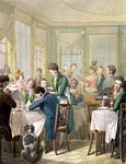 The Restaurant in the Palais Royal, 1831 Poster Art Print by Kelly Hoppen