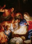 The Adoration of the Shepherds, detail of the group surrounding Jesus