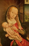 Virgin and Child Poster Art Print by Parmigianino