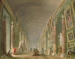 The Grand Gallery of the Louvre between 1801 and 1805 Poster Art Print by Giovanni Paolo Pannini or Panini