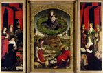 The Triptych of Moses and the Burning Bush, c.1476 Poster Art Print by Leonardo da Vinci