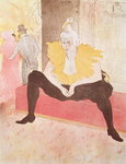 The Clowness Cha-U-Kao Seated, 1896 Poster Art Print by Henri de Toulouse-Lautrec