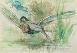 Dragonfly, c.1884 Poster Art Print by Odilon Redon