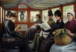 Fine Art Print of On the Omnibus, 1880 by Maurice Delondre