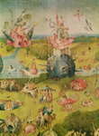 The Garden of Earthly Delights: Allegory of Luxury, central panel of triptych, c.1500 Poster Art Print by Hieronymus Bosch