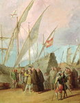Departure of Christopher Columbus Poster Art Print by Philippe de Champaigne