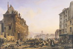 Attack on the Hotel de Ville, 28th July 1830 Poster Art Print by Lesueur Brothers