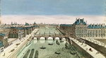 Perspective View of Paris from the Pont Royal Poster Art Print by Etienne Bouhot