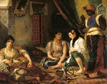 The Women of Algiers in their Apartment, 1834 Poster Art Print by Theodore Leblanc