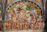 The Calling of the Chosen to Heaven (fresco) (see also 136323) by Franz von Bayros - print