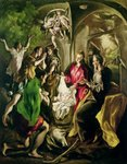 Adoration of the Shepherds, 1603-05 Poster Art Print by El Greco