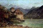 The Chateau de Chillon, 1875 Poster Art Print by Philip James Loutherbourg