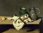 Still Life with a Kettle, c.1869 Poster Art Print by Paul Cezanne