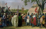 Count of Tripoli accepting the Surrender of the city of Tyre in 1124, 1840 Poster Art Print by Merry Joseph Blondel