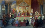 Assembly of Crusaders in Ptolemais in 1148, 1840 Poster Art Print by Sir David Wilkie